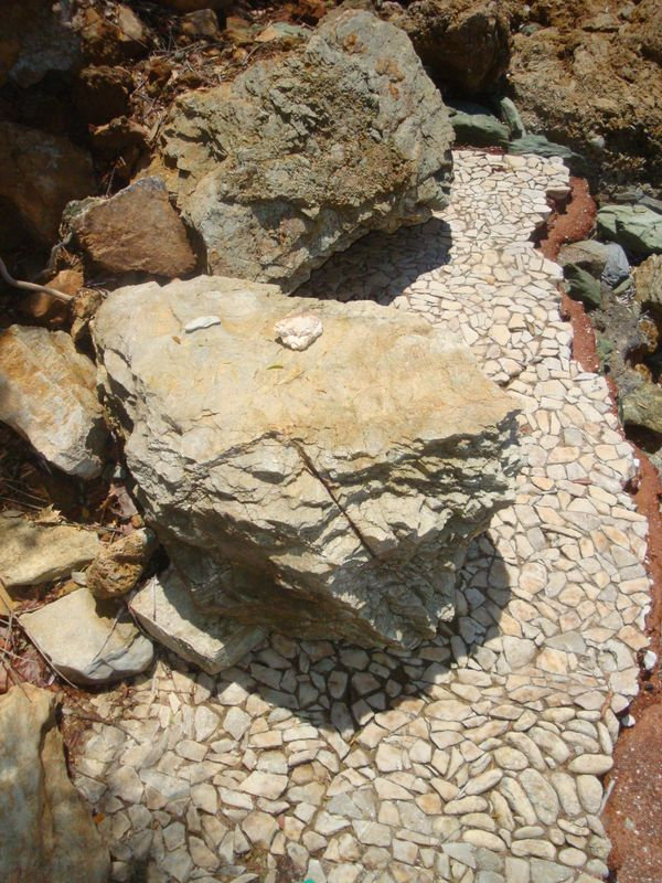 009. Пол из мраморной плитки - На развалинах римских бань Селинуса (Σεληνούς)