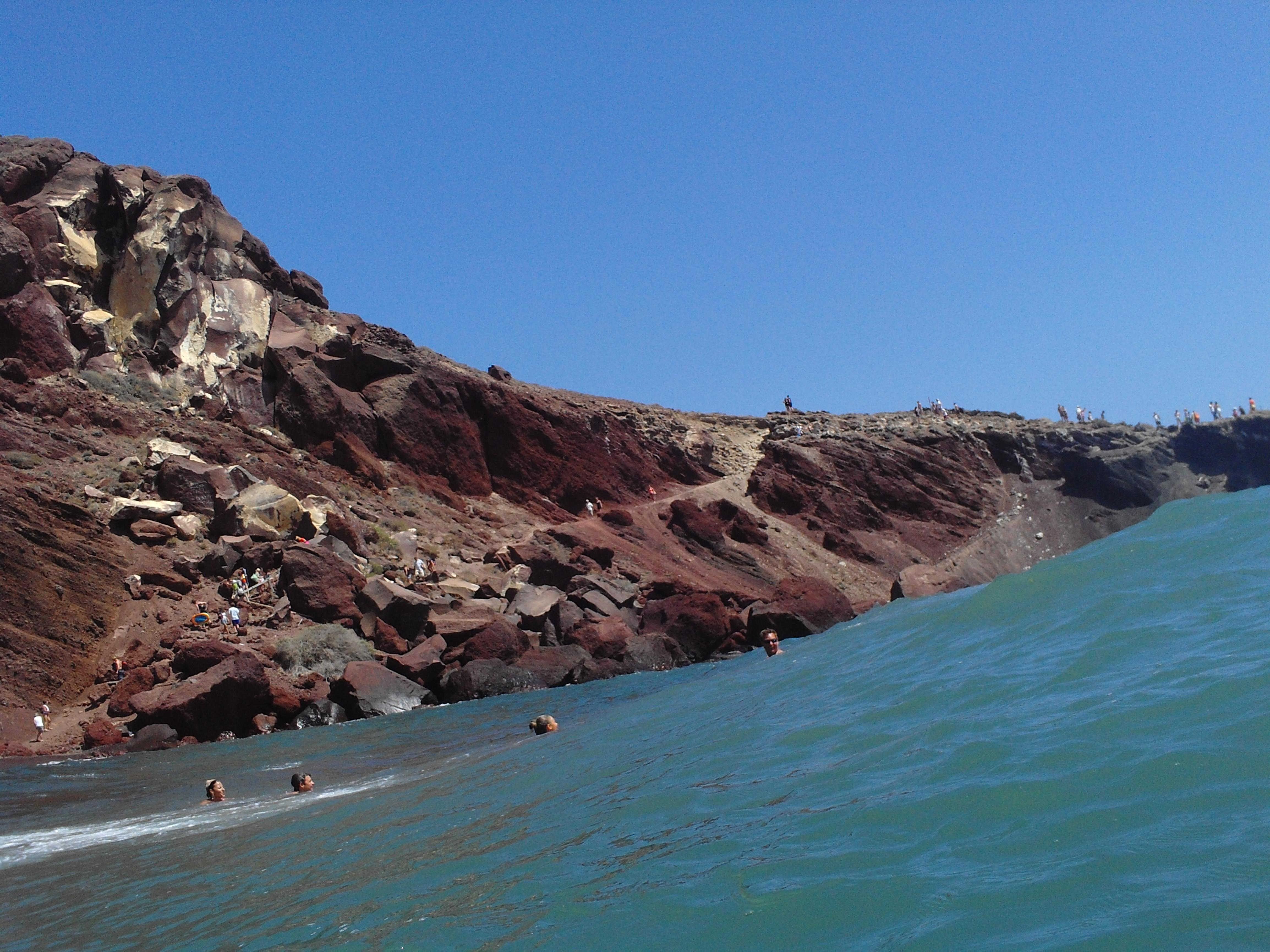 02. Большая волна - Красный пляж (η Kόκκινη Παραλία), Санторини