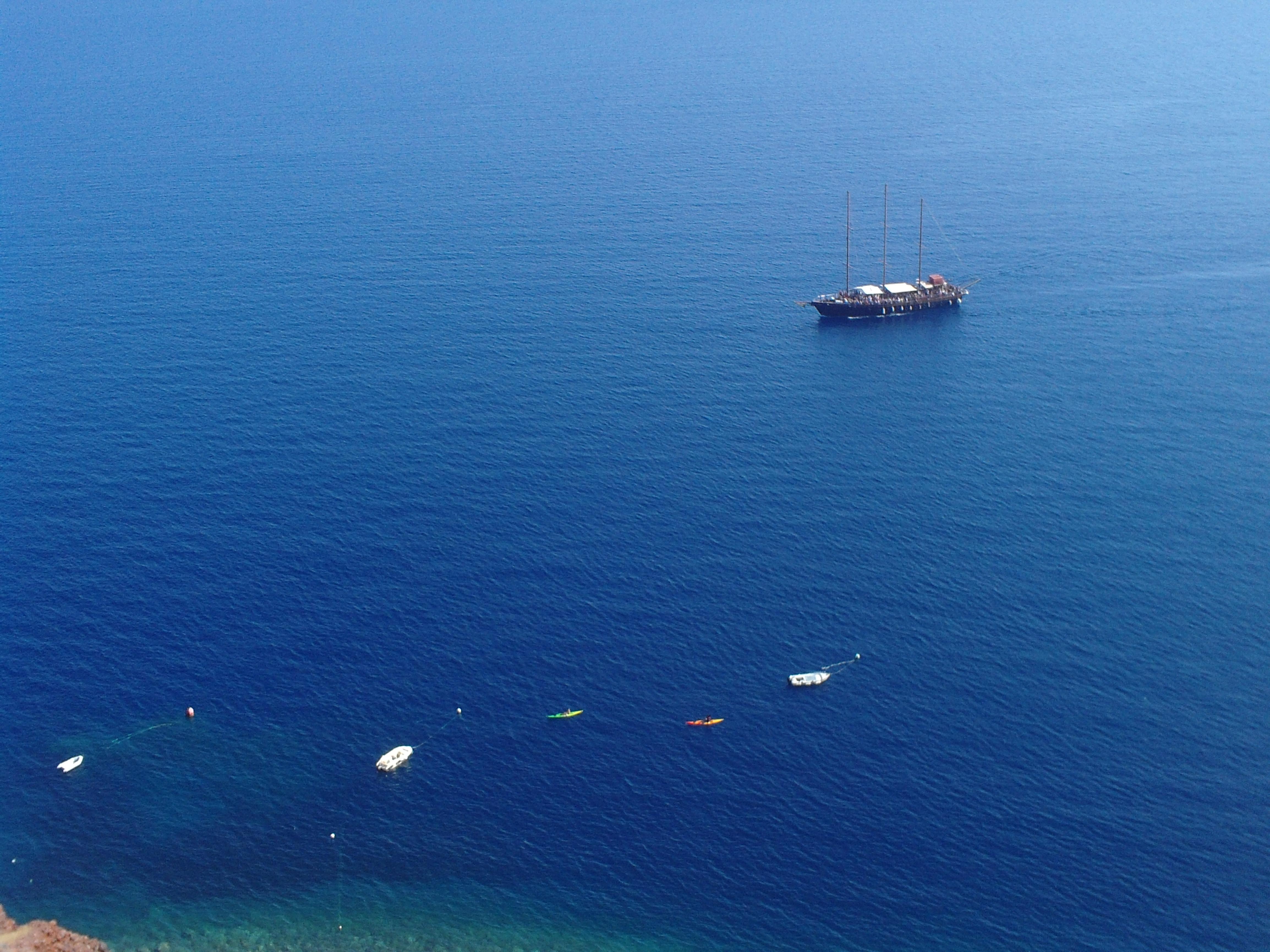 16. Вид на море с ослиной тропы - Ия, Санторини