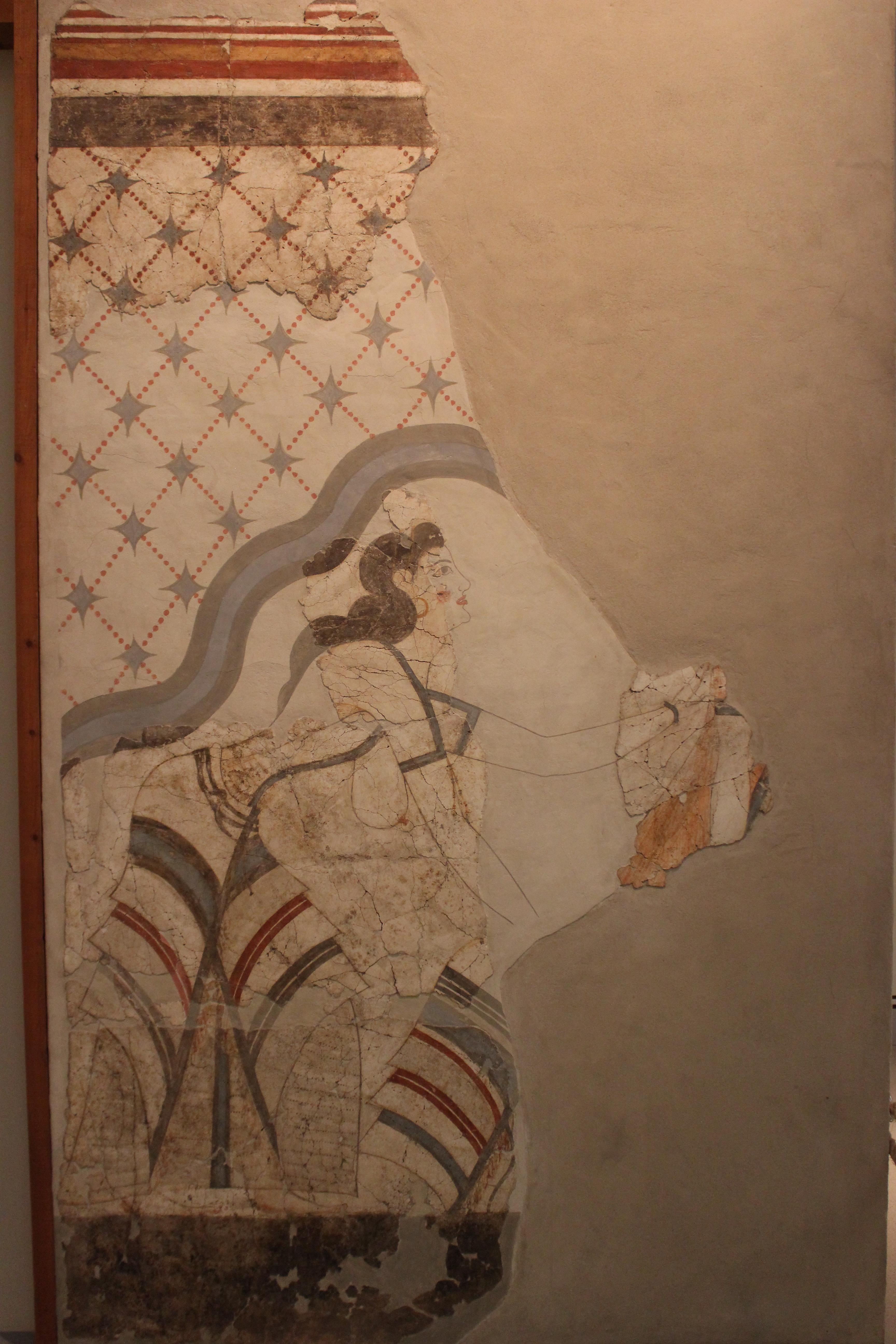 36. Фреска «Минойская дама» - Акротири (Ακρωτήρι). Музей Фиры, Санторини