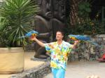 """019. Выступление с попугаями - Шоу птиц в зоне """"Полинезия"""""""