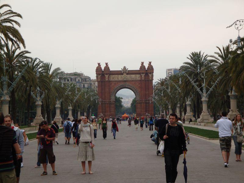 050. Триумфальная арка - Арка из красного кирпича, Барселона