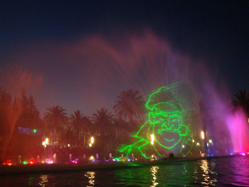 110. Капитан - Поющие фонтаны в Salou. Лазер рисует разные картинки