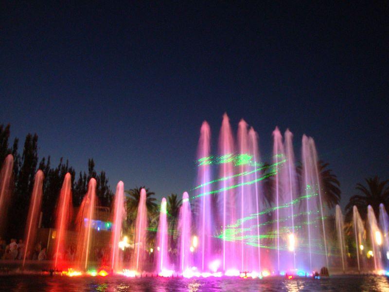111. Лазерные проекции - Поющие фонтаны, Salou