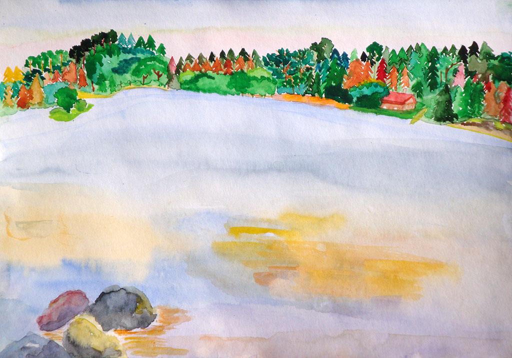 13. Озеро в Вильяккале -